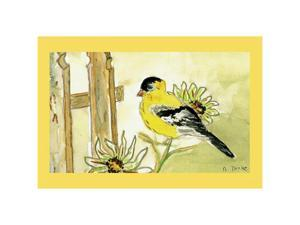 "Betsy Drake DM244 Goldfinch Door Mat 18""x26"""