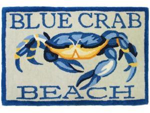 Homefires PY-KH002 Blue Crab Beach Rug