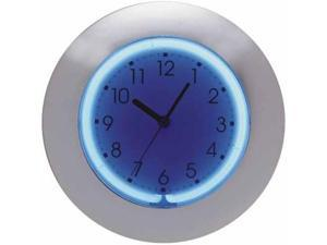 Creative Motion 10280 12 Inch 2-Color Neon Clock With Chrome Frame