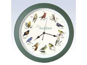 Mark Feldstein Audubon Singing Clock 13 Inch Grn