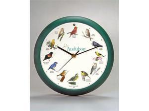 8 Inch Audubon Singing Clock - Green