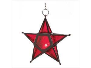 SWM 12288 Red Glass Star Lantern