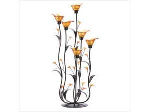 SWM 12793 Amber Calla Lilly Candleholder