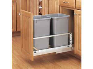 Rev-A-Shelf RS5349.1527DM.217 Soft Close, Floor Mount,Double Bin - Silver