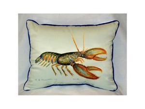 "Betsy Drake HJ081 Lobster Art Only Pillow 15""x22"""
