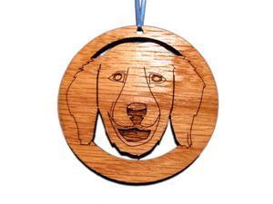 CAMIC designs DOG006FN Laser-Etched Golden Retriever Face Dog Ornaments - Set of 6