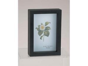 Sixtrees WD11946 4 in. x 6 in. Shadow Box Black