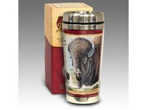 American Expediton STMG-107 American Bison 16-oz. Steel Travel Mug