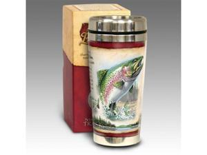 American Expediton STMG-112 Rainbow Trout 16-oz. Steel Travel Mug