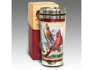 American Expediton STMG-128 Northern Cardinal 16-oz. Steel Travel Mug
