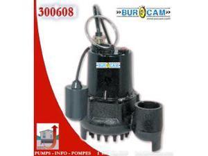 Bur-Cam Pumps 300608 .33 HP Sump Pump with Mechanical Switch