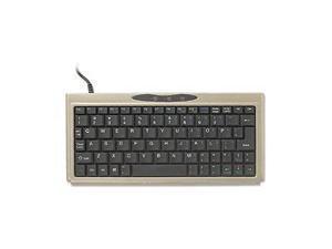 """Solidtek 138 0402 4.06"""" W x 0.63"""" H x 8.74"""" L Mini USB Keyboard Titanium"""