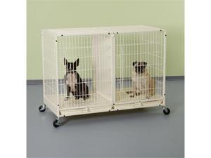 Pet Pals ZW5312 11 PS Color Modular Cage X-Tall with Plstic Try Ivory S