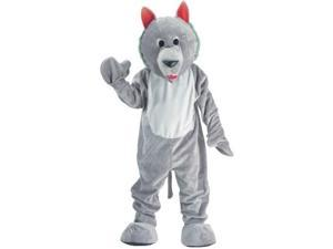 Dress Up America 153641 Hungry Wolf Economy Mascot Adult Costume Size: One-Size