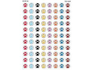 Teacher Created Resources TCR4249 Me Puppy Paw Prints Mini Stickers