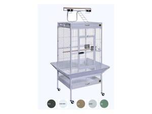 Prevue Pet Products 3152C 24 in. x 20 in. x 60 in. Wrought Iron Select Cage - Chalk White