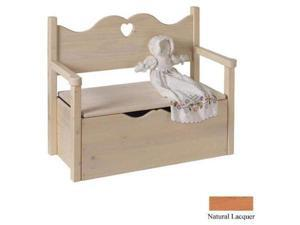 Little Colorado 017NAHT Bench Toy Box - Natural-Heart