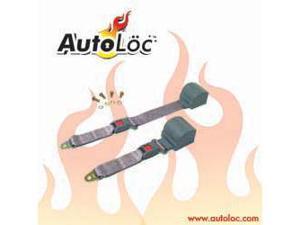 Autoloc SB2PRGR 2 Point Retractable Grey Lap Seat Belt (1 Belt)