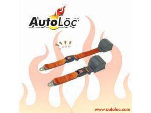 Autoloc SB2PROR 2 Point Retractable Orange Lap Seat Belt (1 Belt)