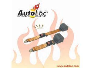 Autoloc SB2PRPE 2 Point Retractable Peach Lap Seat Belt (1 Belt)