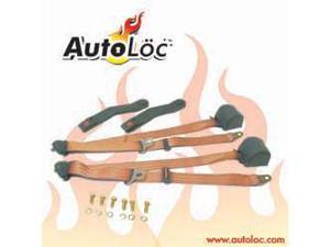 Autoloc SB3PRPE 3 Point Retractable Peach Seat Belt (1 Belt)