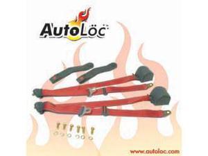 Autoloc SB3PRRD 3 Point Retractable Red Seat Belt (1 Belt)