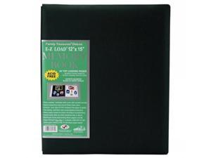 "Family Treasures Deluxe Fabric Postbound Album 12""X15""-Hunter Green"