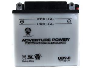 Universal Power UB9-B Conventional 12 Volt Battery