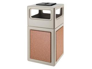 Commercial Zone Products 72051699 42-gallon StoneTec Panel with Ashtray Dome Lid  Beige with Sedona Panels