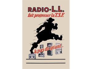 Buyenlarge 02096-2P2030 Radio - L.L. - Running Man 20x30 poster