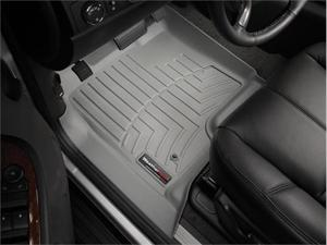 WeatherTech 46066-1-2-462354 Front rear and rear Floorliners w/ Center Aisle Grey Chevrolet Suburban 11-11