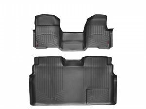 WeatherTech 442951-441793 Front and Rear Floorliners - Over The Hump Black Ford F-Series 11-11