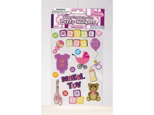 Rite Lite MT-14344-G Mazel Tov Baby Girl Puffy Stickers - Pack Of 12