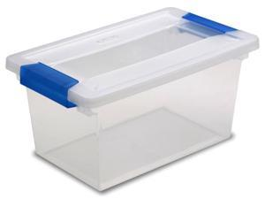 Sterilite 19628604 Medium Clip Box with Soft Fern Latches - Pack of 4