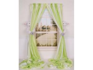 Curtain Critters ALWTLB170909SET Plush Barnyard Lamb Curtain Tieback Toy Set- 2