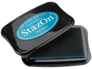 StazOn Solvent Inkpad-Teal Blue