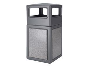 Commercial Zone Products 72041199 42-gallon StoneTec Panel with Dome Lid  Gray with Ashtone