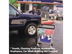 R&B Wire 350E Wire Frame Metal Car Wash Towel Cart - Chrome