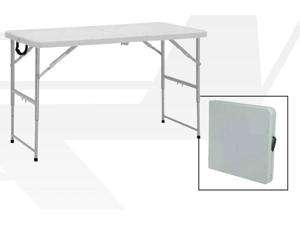 Office Star BT04FA 4 ft. Height Adjustable Fold in Half Resin Multi Purpose Table- Resin
