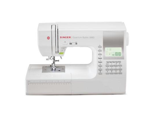 Singer 9960 Quantum Stylist 600-Stitch Computerized Sewing Machine with extension table