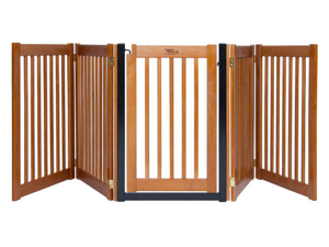 Dynamic Accents 42625 32 in. Walk-Through 5 Panel Free Standing Gate -Artisan Bronze