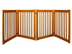 Dynamic Accents 42623 32 in. 4 Panel Free Standing EZ Gate - Artisan Bronze