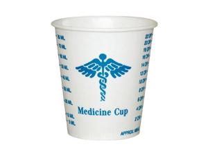 Solo Cup SCC R3 Wax Coated Paper Graduated Medicine