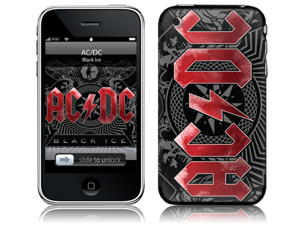 Zing Revolution MS-ACDC30001 iPhone 2G-3G-3GS- AC-DC- Black Ice Skin