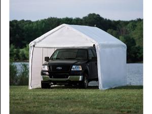ShelterLogic 23529 10 ft. -20 ft.  Canopy, 1-.38 in.  8-Leg Frame, White Cover, Enclosure Kit