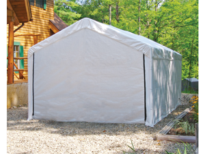 ShelterLogic 25875 10×20 White Canopy Enclosure Kit, Fits 2 in. Frame