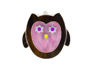 Switchables SWITCHSW202 Night Lights and Suncatchers - Pink Owl