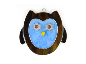 Switchables SWITCHSW203 Blue Owl Art Decor Nightlight