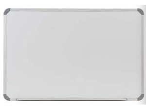 Ghent CTSM3-34-1 3 ft. x 4 ft. Aluminum Radial Edge Euro-Style Magnetic Markerboard - 1 Marker and Eraser
