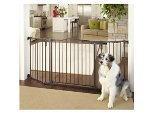"North States Deluxe DΘcor Wall Mounted Matte Bronze Gate 37""- 71""x30.7"" - NS4934"